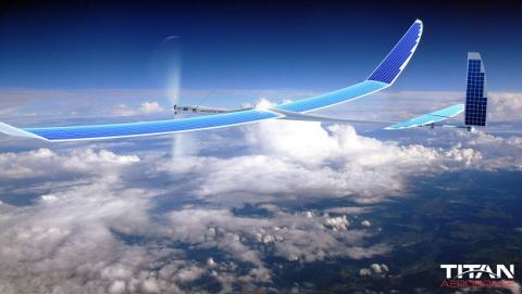 dron energía solar Titan Aerospace