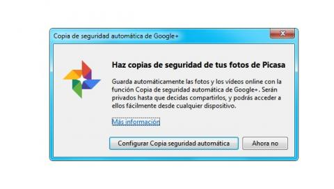 Copia de seguridad de fotos de Google+