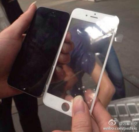 panel frontal del iPhone 6