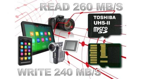 Toshiba presenta tarjeta microSD UHS-II más rápida del mundo, para cámara con resolución 4K o Ultra HD