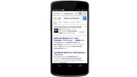 Anuncios de apps en las búsquedas de Google