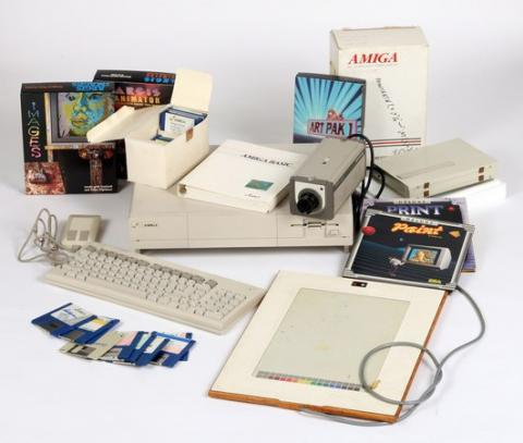 Encuentran diseños de Andy Warhol en ordenador Commodore Amiga 1000
