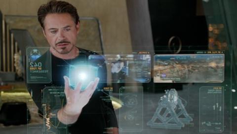 Holograma 3D interactivo de Tony Stark