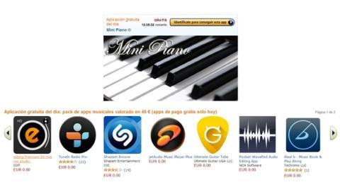 Apps gratis de música por valor de 40 € en la Tienda Apps para Android de Amazon, sólo hoy
