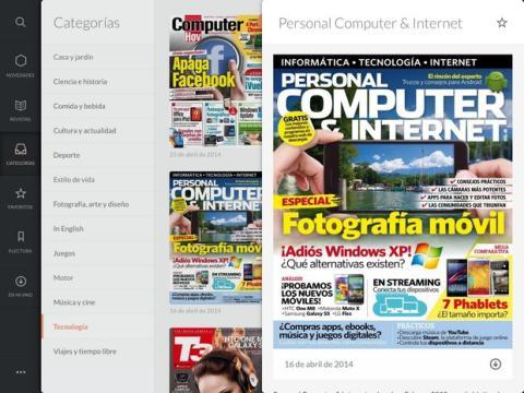App Ztory revistas digitales