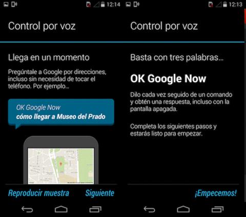 Asistente de voz Android