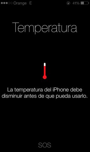temperatura iPhone