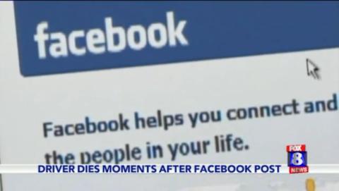 Sube una foto a Facebook mientras conduce y muere al minuto