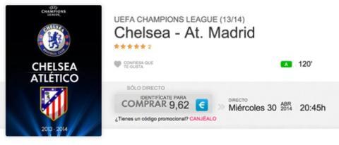 Chelsea Atlético de MAdrid partido