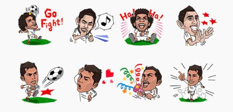 LINE: Los Stickers del Real Madrid