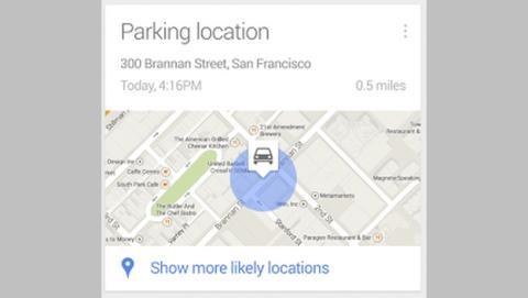 La actualización de la Búsqueda de Google ahora te recuerda dónde has aparcado el coche.