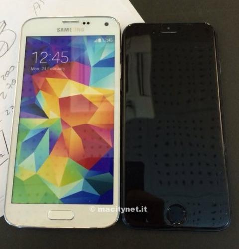 iPhone 6 y Samsung Galaxy S5