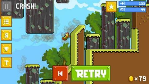 Retry de Rovio, clon de Flappy Bird