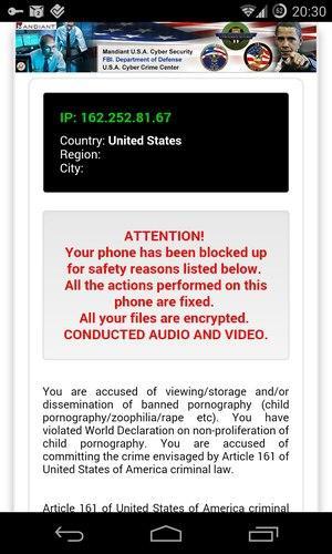Ransomware para Android secuestra tu móvil