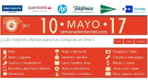 200 tiendas online ofrecen descuentos, ofertas y promociones en la Semana de Internet, del 10 al 17 de mayo