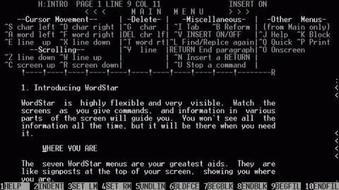 George R. R. Martin WordStar 4.0 MS-DOS