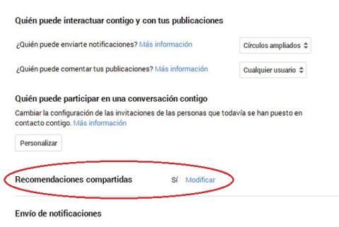 Google + usa tus datos personales en sus anuncios