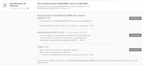 os x mavericks 10.9.3 actualización