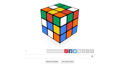 Para celebrar el 40 Aniversario del Cubo de Rubik, Google crea un doodle con un cubo de Rubik interactivo que te invita a resolver.