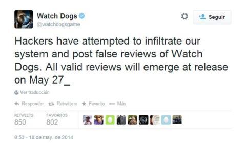Hackean Twitter Watch_Dogs