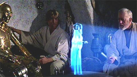 Holograma en Starwars