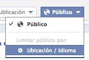 Segmentar publicaciones de Facebook por ubicación o idioma
