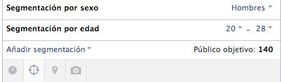 Público objetivo de Facebook