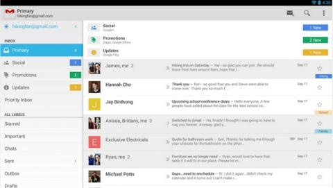 La nueva actualización de Gmail para Android permite almacenar ficheros adjuntos en la nube, en Google Drive.