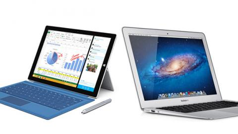 Frente a frente: Surface Pro 3 VS Macbook Air