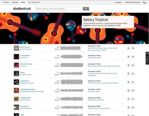 Shutterstock te permitirá escuchar las canciones antes de comprarlas