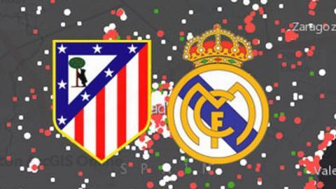 La Geoporra muestra en un mapa quién quiere que gane, y quién cree que ganará la final de la UEFA Champions League entre el Real Madrid y el Atlético de Madrid, en cada ciudad de España.