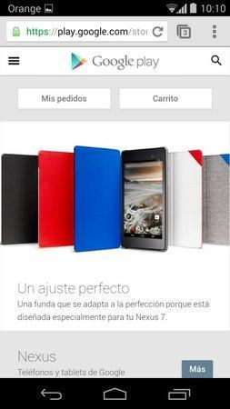 Web Móvil Google Play