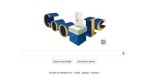 El dooble de Google dedicado a las Elecciones al Parlamento Europeo.