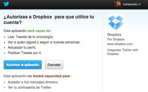 Dropbox y Twitter