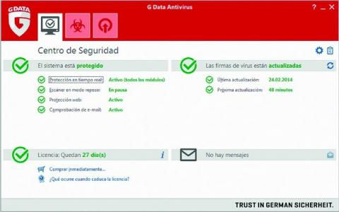 G Data Antivirus con anti-exploit y contra keyloggers