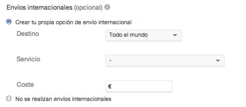 Envíos internacionales eBay