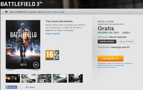 Battlefield 3 gratis