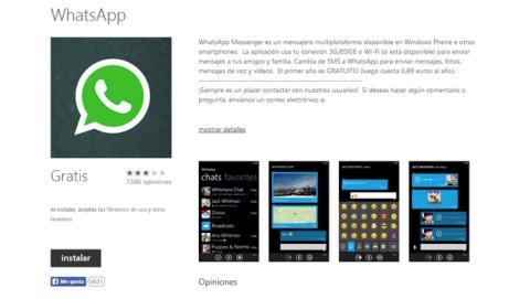 WhatsApp retorna a Windows Phone 8, con nuevas funciones