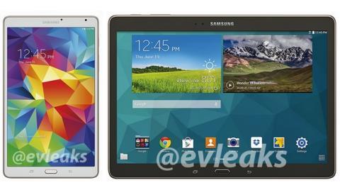 Se desvelan las nuevas tablets Samsung Galaxy Tab S 8.4 y 10.5, con pantalla QHD y lector de huellas.
