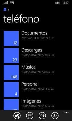 App Archivos Windows Phone 8.1