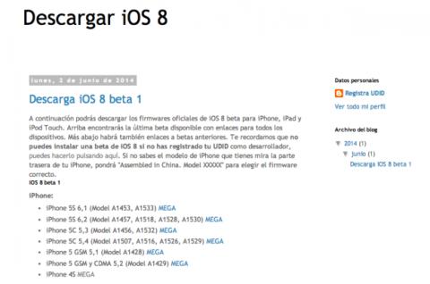 descargar beta iOS 8