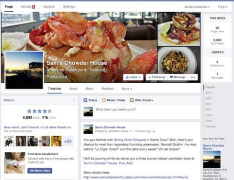 facebook páginas nuevas