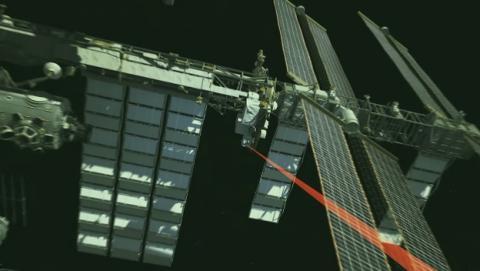 La Estación Espacial Internacional envía un vídeo a través de un láser, gracias al proyecto OPALS.