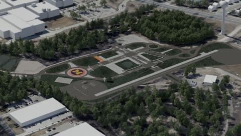 El Mobility Transformation Center es una ciudad simulada, pensada para probar los coches autónomos sin conductor.