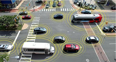 Ciudad simulada para probar coches autónomos