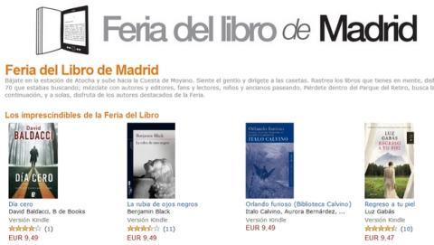 La Tienda Kindle de Amazon abre una sección dedicada la Feria del Libro de Madrid, con descuentos en ebooks.