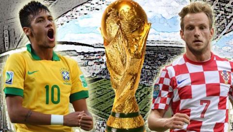 Dónde ver online el partido del Mundial de Fútbol Brasil contra Croacia.