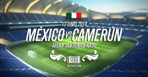 Dónde ver online partido del Mundial México contra Camerún