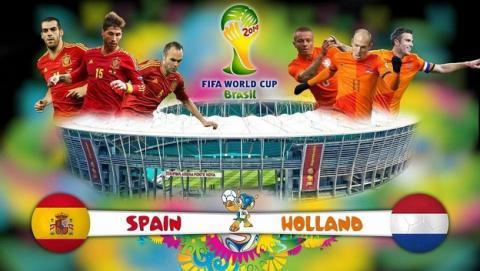 Cómo ver online el partido del Mundial de Fútbol Brasil 2014: España contra Holanda