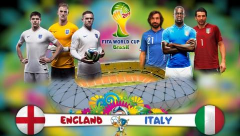 Ver online el partido del Mundial Inglaterra - Italia, gratis y en abierto.